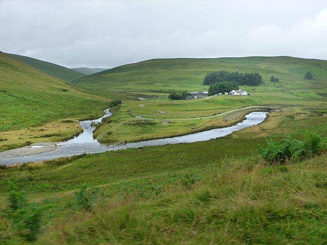 Nant Hirin joining the River Elan
