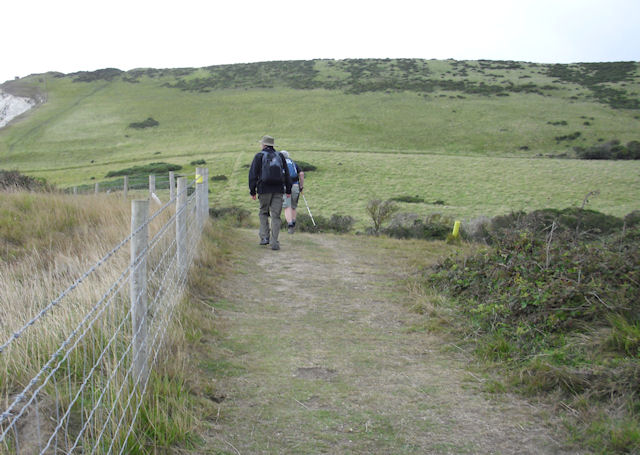 South West Coast Path, above Worbarrow