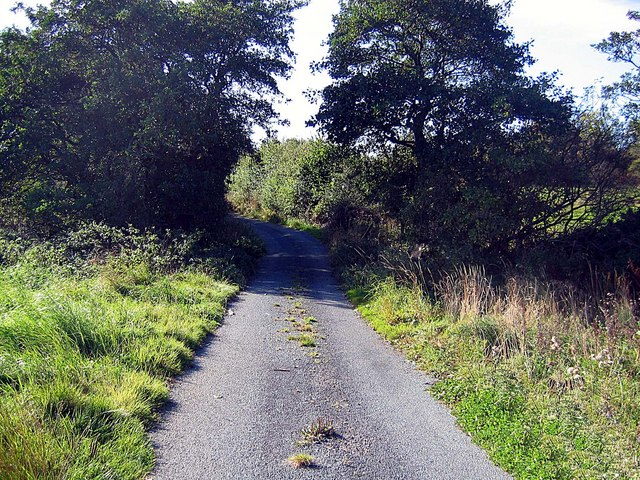 Lane heading south from Embleton Old Hall