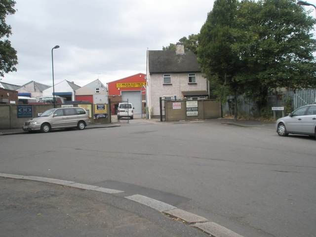 Point where Balfour Road and Spencer Street merge
