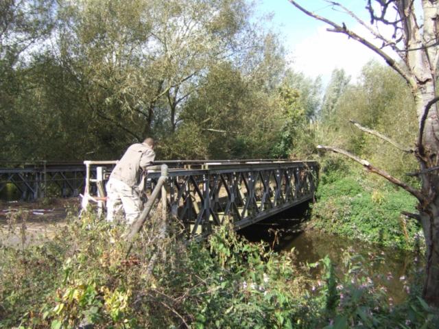 Bailey Bridge over the mill stream