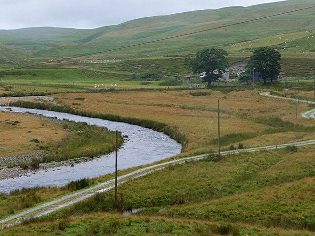 Afon Elan just below Abergwngu