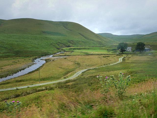 Afon Elan and Abergwngu Farm