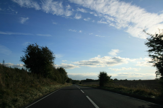 A361 heading south away from Burford