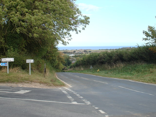 Sea view,  looking towards Hunmanby village