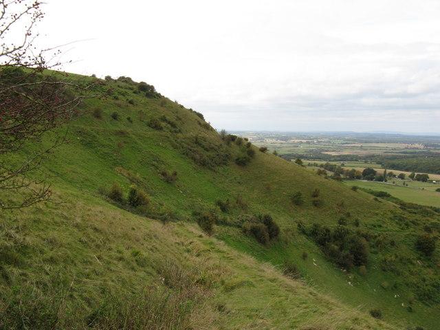 Looking westward along the South Downs escarpment