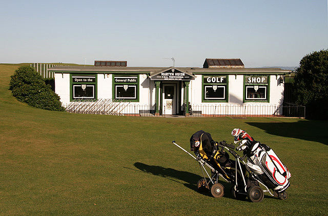 The professional's shop at North Berwick Golf Course