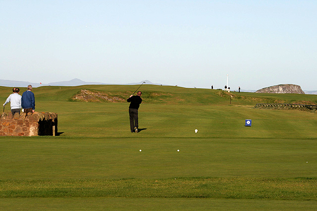 The 1st tee at North Berwick Golf Course
