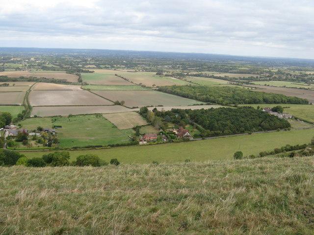 Arable farmland around Edburton