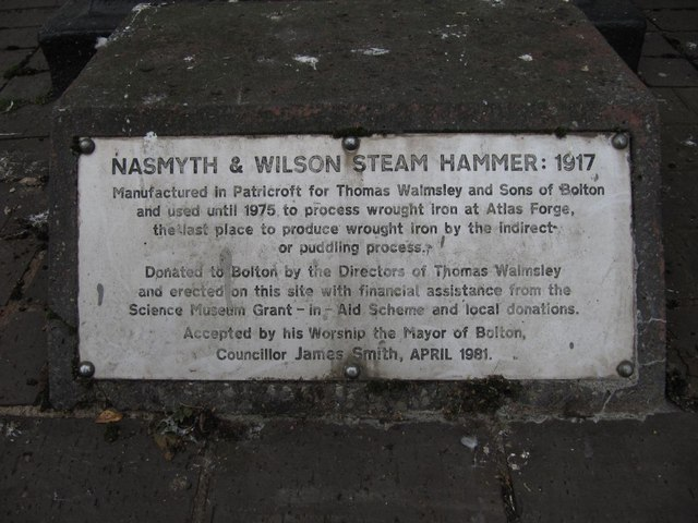 Plaque on the base