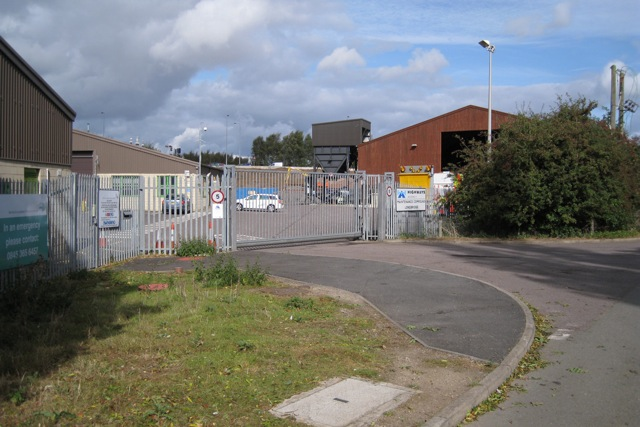 Highways Agency maintenance compound, M40 junction 15, near Warwick