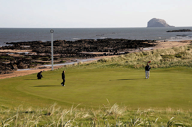 The 14th green at North Berwick Golf Course