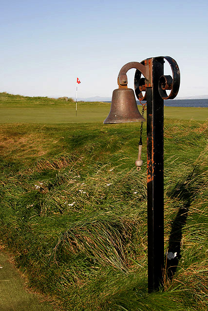 A bell at North Berwick Golf Course