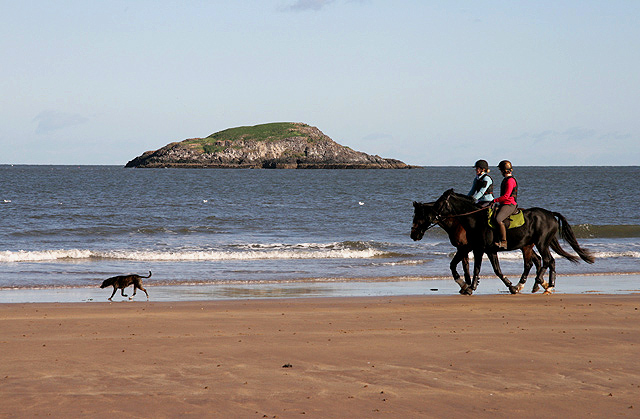 Horse riding on Broad Sands