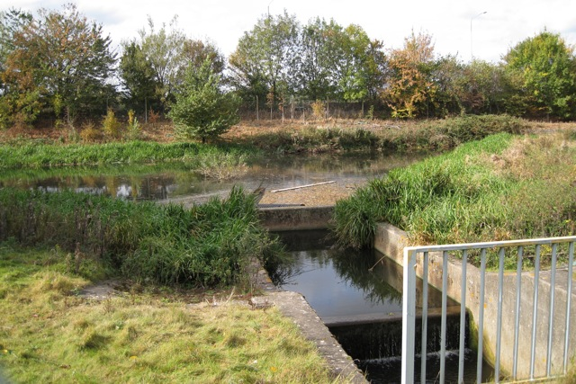 Surface water lagoon by M40 junction 15