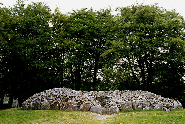 North east cairn at  Balnauran (Clava) Cairns