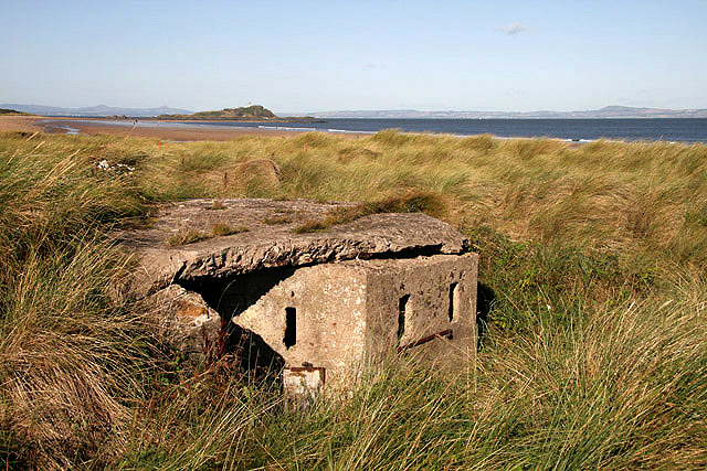 A pillbox on West Links, North Berwick