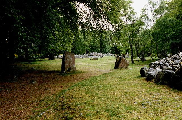 Standing stones at Balnuaran (Clava) Cairns