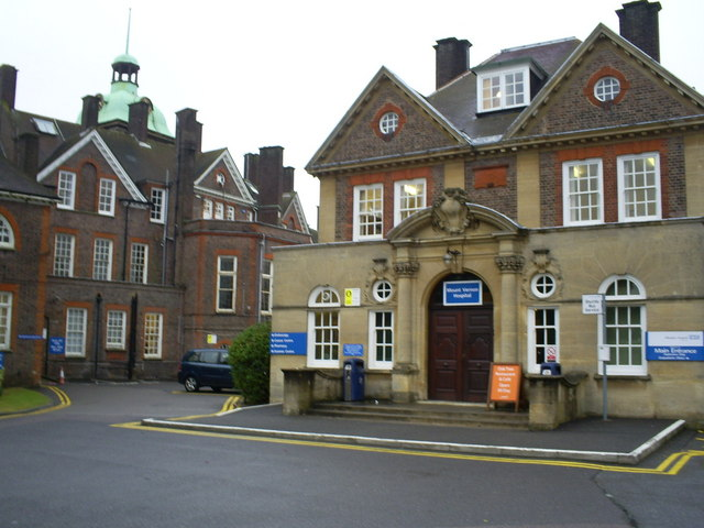 Main Entrance to Mount Vernon Hospital