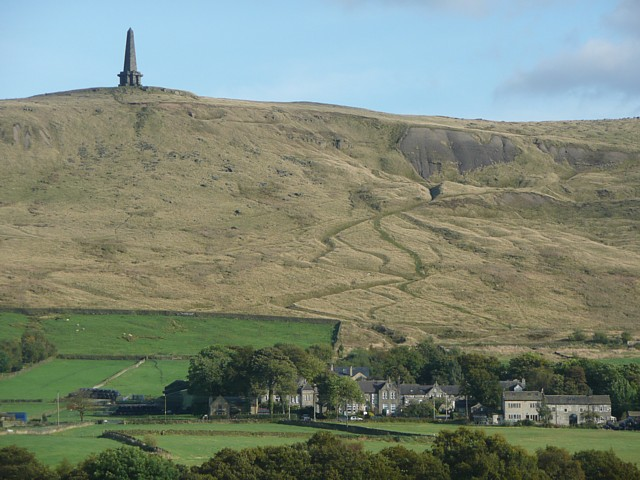 View of Stoodley Pike, near Todmorden