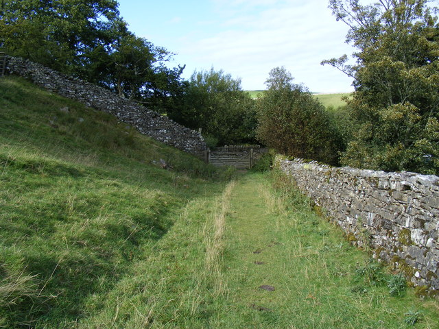 Access path to Shap Abbey