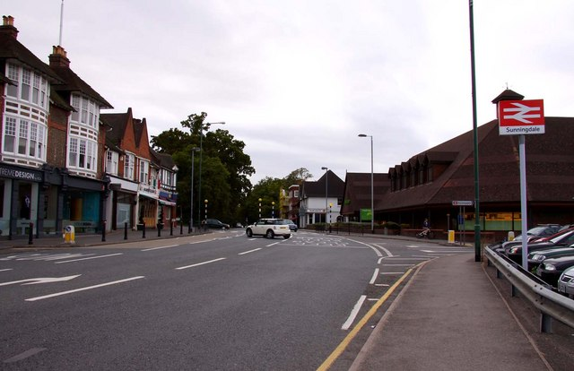 The A30 at Sunningdale