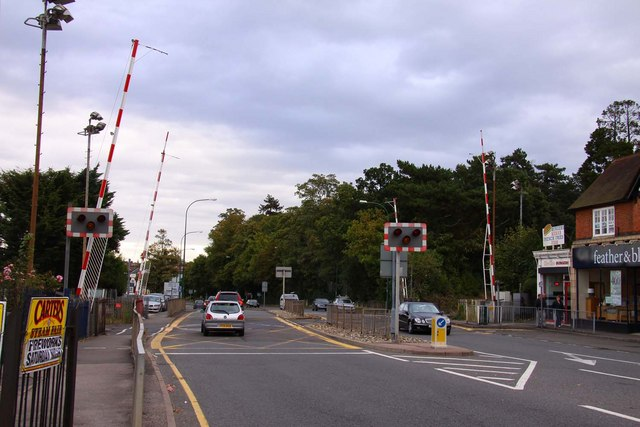 The level crossing in Sunningdale