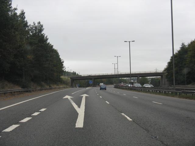 M5 Motorway - Junction 3 Exit Northbound