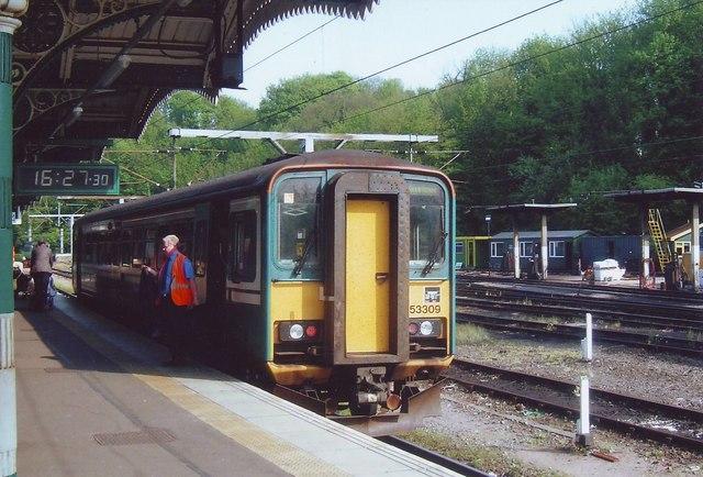 The Felixstowe train waits at Ipswich station