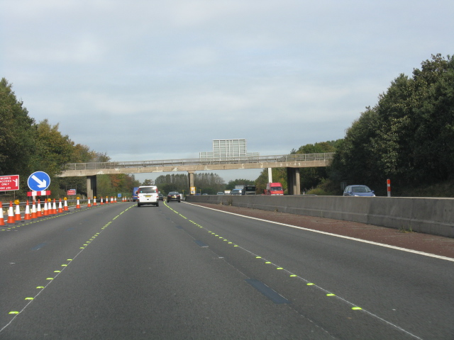 M6 Motorway - The Middle Of Junction 12