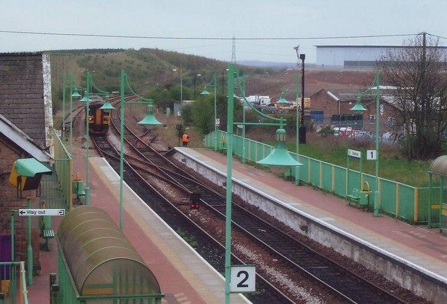 The station at Shirebrook, Notts.