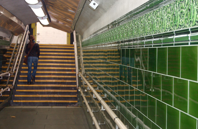 Ceramic tiles in Regents Park underground station