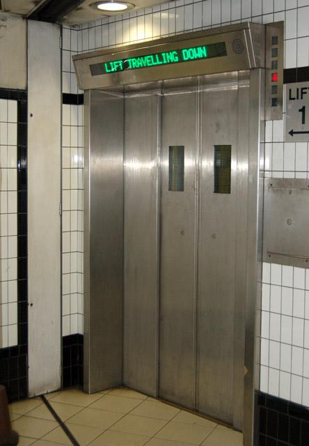 Passenger lift at Borough underground station