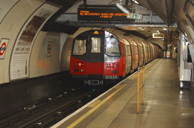 Train leaving Borough underground station