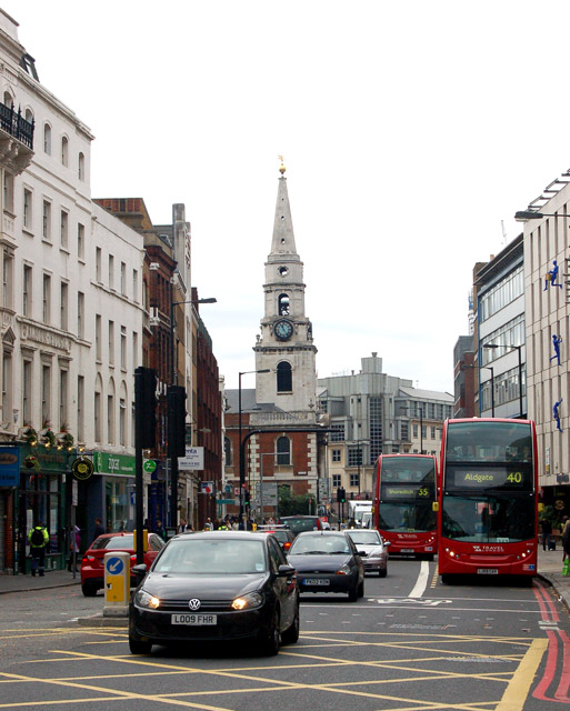 Looking south along Borough High Street, London
