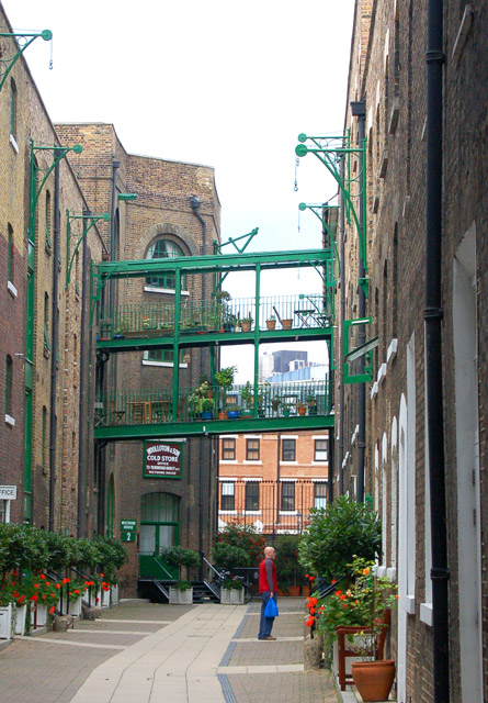 Converted warehouses west of Borough High Street, south London