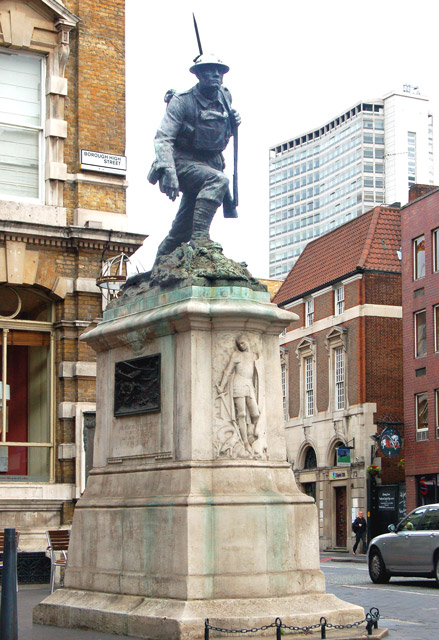 War memorial on Borough High Street, south London