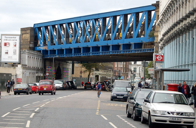 Railway bridge across Southwark Street, south London
