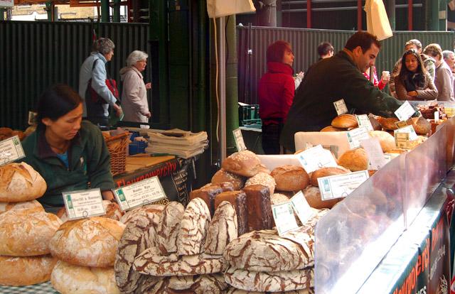Borough market bread stall