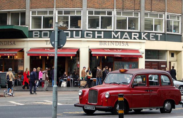 South facade of Borough market on Southwark Street