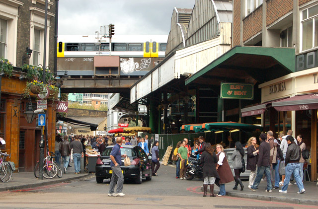 Looking north along Stoney Street to Borough market