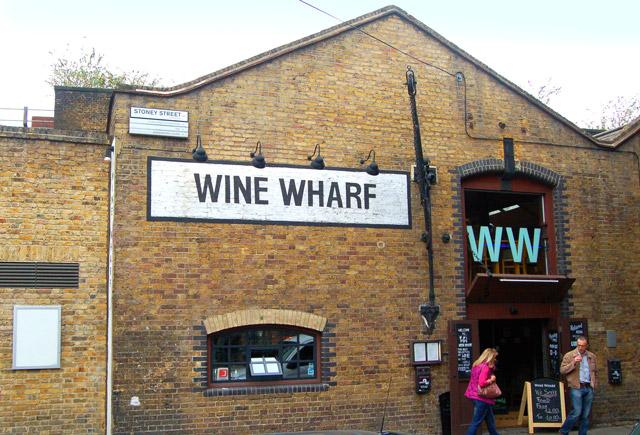 Wine merchant in  Stoney Street, Borough market, south London