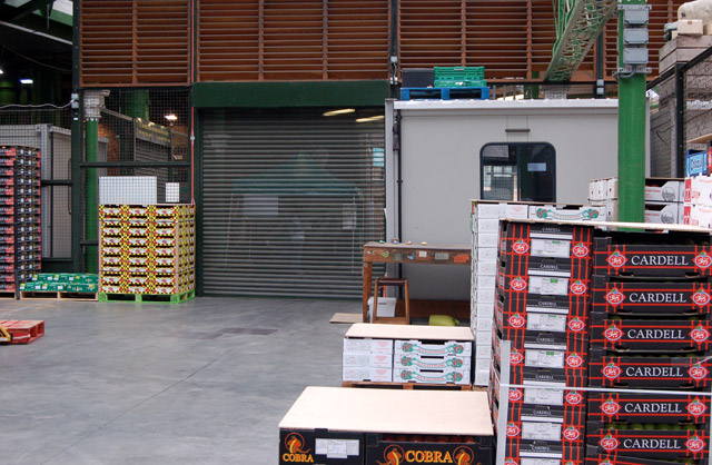 Storage area in Borough market, south London