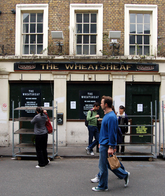 'The Wheatsheaf' closed pub, Borough market, south London