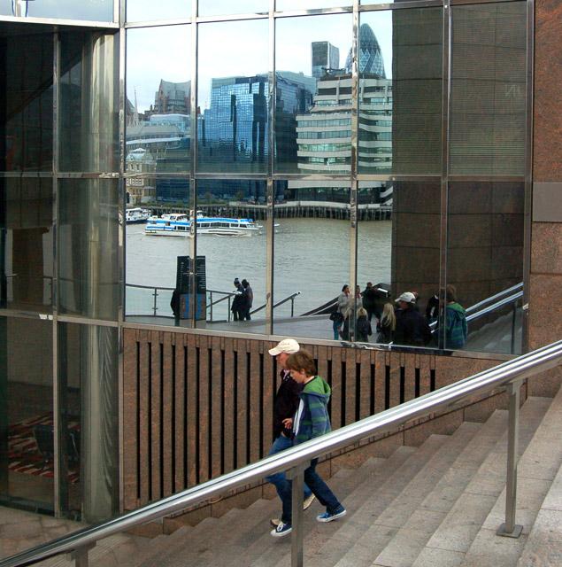 Riverside reflection near London Bridge
