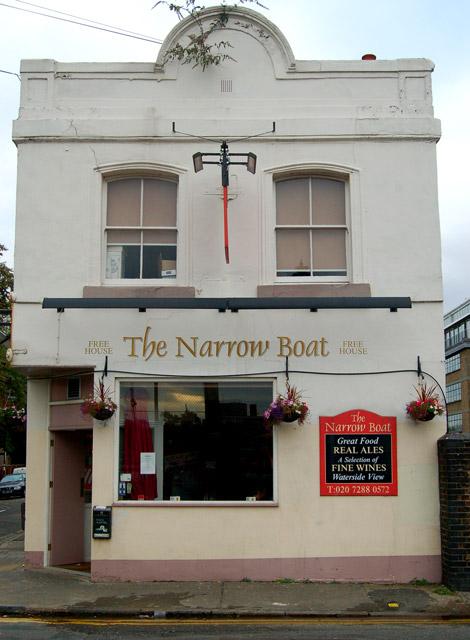 'The Narrow Boat' public house, Wharf Road, Islington