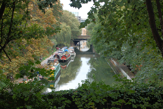 View of Regents Canal from Duncan Terrace, Islington