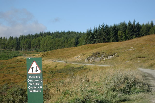 Warning sign by Carrick Forest Drive