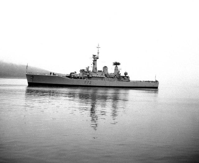 Frigate 'Ariadne'  (F 72) off  Brodick