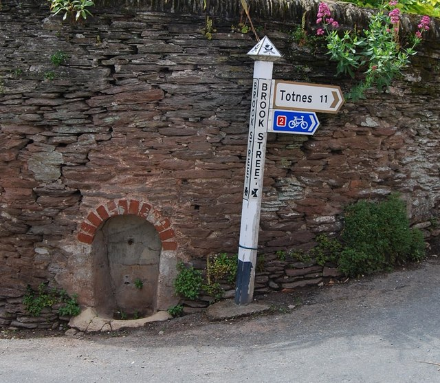 Small well at the Brook Street road junction, Slapton